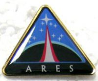 NASA Ares Project Logo Pin